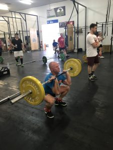 Member lifting weights