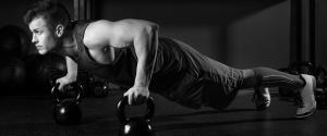 Man doing push ups