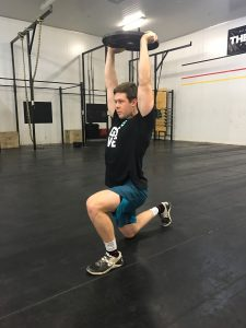 Lachlan doing an overhead lunge
