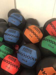 Gym equipment wall balls